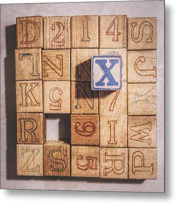 X Blocks Metal Print