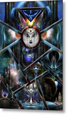 Xzendor7 Realm Of Fractal Fantasies Matrix Metal Print