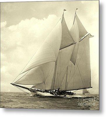 Yacht America 1910 Metal Print by Padre Art