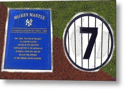 Yankee Legends Number 7 Metal Print by David Lee Thompson