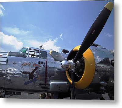 Metal Print featuring the photograph Yankee Raider B-25  by Don Struke