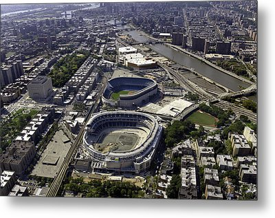 Metal Print featuring the photograph Yankee Stadium Aerial by Paul Plaine