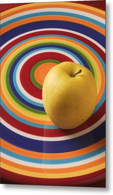 Yellow Apple  Metal Print by Garry Gay