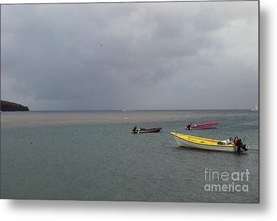Metal Print featuring the photograph Yellow Boat by Gary Wonning