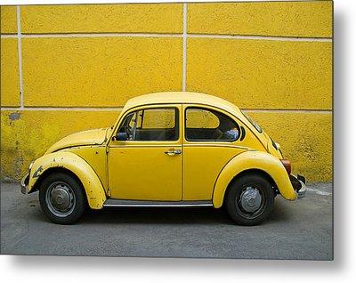 Yellow Bug Metal Print by Skip Hunt