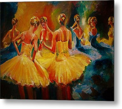 Yellow Costumes Metal Print by Khalid Saeed