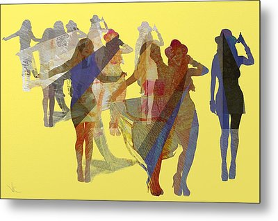 Yellow Dance Metal Print