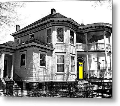 Yellow Door Metal Print by Will Borden