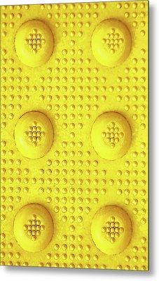 Yellow Dot Industrial Portrait Metal Print