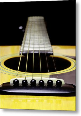 Yellow Guitar 17 Metal Print by Andee Design