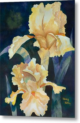 Yellow Irises Metal Print