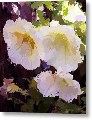 Yellow Petunias Metal Print by Carol Grimes