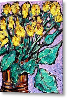 Yellow Roses Metal Print by Sheila Tajima