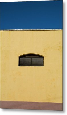 Yellow Wall In Trinidad Metal Print by Sami Sarkis
