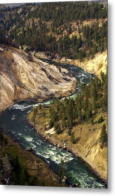 Yellowstone River Canyon Metal Print by Marty Koch