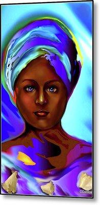 Yemaya -the Ocean Goddess Metal Print by Carmen Cordova