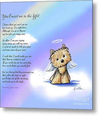 Yorkie Memorial Metal Print by Kim Niles