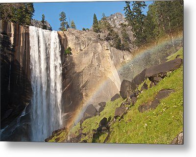Yosemite Mist Trail Rainbow Metal Print by Shane Kelly