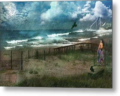 Metal Print featuring the digital art You Are So Far Away by Rhonda Strickland