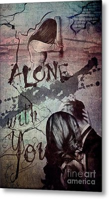 Metal Print featuring the mixed media You by Mo T