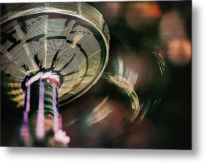 You Spin Me Right Round Metal Print by Nicole Frischlich