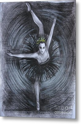 Metal Print featuring the drawing You Think You Can Dance by Anna  Duyunova