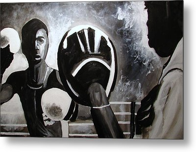 Young Cuban In Training   Metal Print by Ottoniel Lima