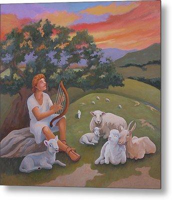 Young David As A Shepherd Metal Print