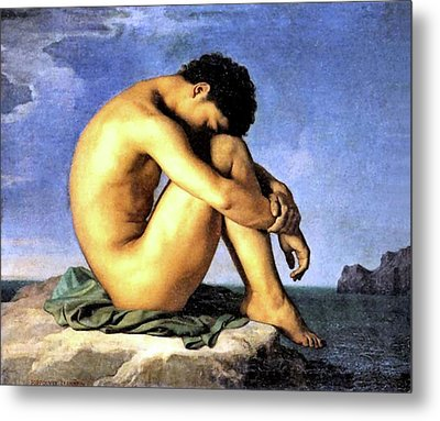 Young Man By The Sea Metal Print