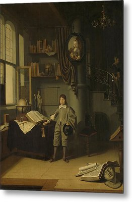 Young Man In A Study, 1650 Metal Print
