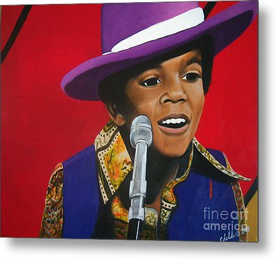 Young Michael Jackson Singing Metal Print by Chelle Brantley