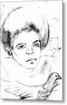 Young Micheal Jackson  Metal Print by HPrince De Artist