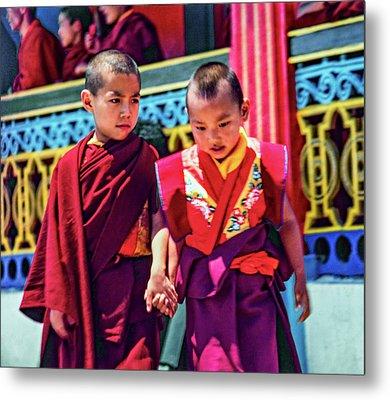 Young Monks - Buddies Metal Print