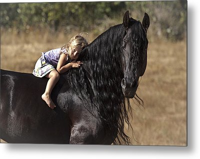 Young Rider Metal Print by Wes and Dotty Weber