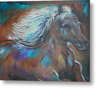 Metal Print featuring the painting Your Majesty by Leslie Allen