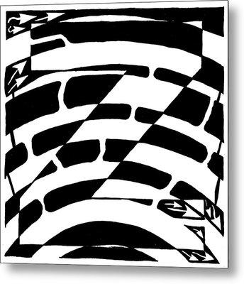 Z Maze Metal Print by Yonatan Frimer Maze Artist