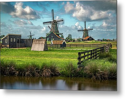Zaanse Schans And Farm Metal Print by James Udall