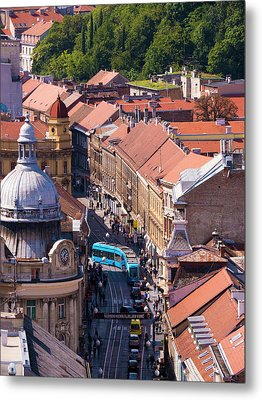 Zagreb Afternoon Metal Print by Rae Tucker
