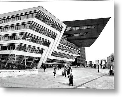Zaha Hadid Library Center Wu Campus Vienna Metal Print