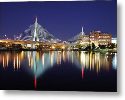 Zakim Aglow Metal Print by Rick Berk