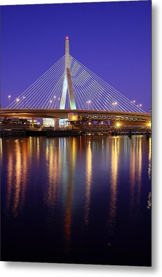 Zakim At Twilight II Metal Print by Rick Berk