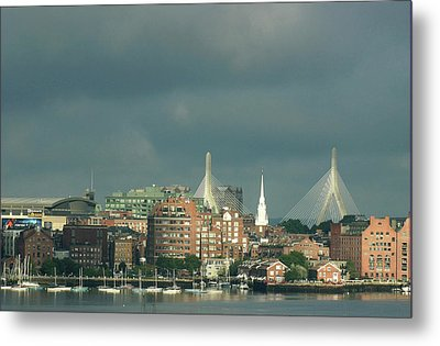Zakim Bunker Hill Bridge Metal Print by Carol Kinkead