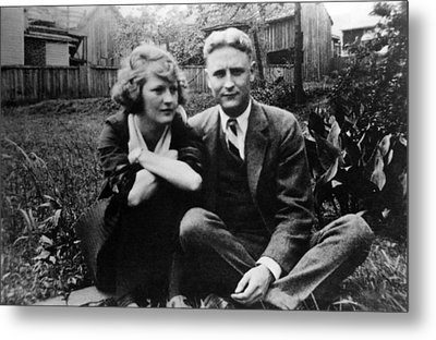 Zelda Fitgerald And F.scott Fitzgerald Metal Print by Everett