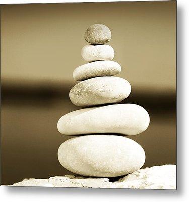 Zen Balance Metal Print by Anna Om