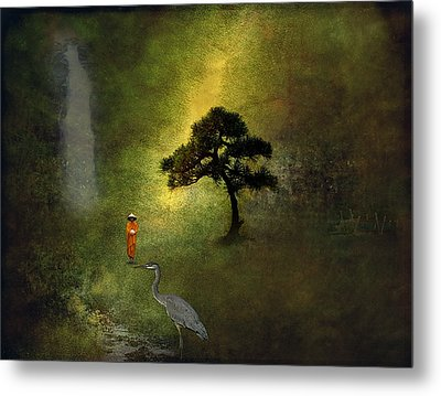 Zen Garden Metal Print by H Kopp-Delaney