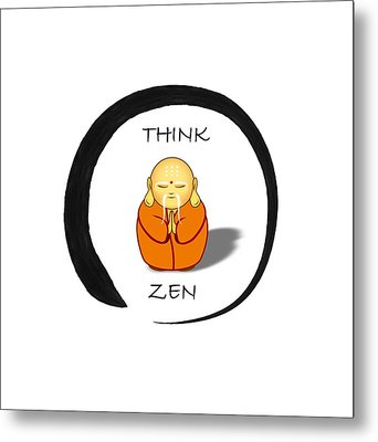 Zen Symbol With Buddha Metal Print