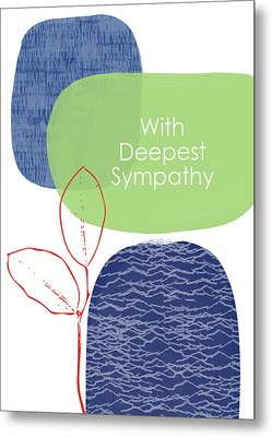 Zen Sympathy Card- Art By Linda Woods Metal Print