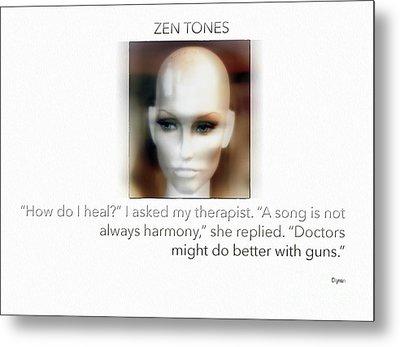 Zen Tones  Metal Print by Steven Digman