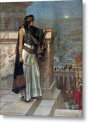Zenobia's Last Look On Palmyra Metal Print