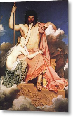 Zeus And Thetis  Metal Print by Jean Auguste Dominique Ingres